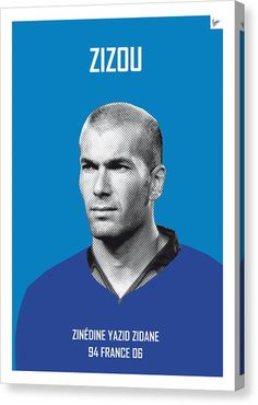 Soccer Canvas Print - My Zidane Soccer Legend Poster by Chungkong Art