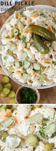 This Dill Pickle Pasta Salad recipe from Spend with Pennies is literally our favorite pasta salad ever! It's creamy, has all of our favorite ingredients (aka: pasta, pickles, and a creamy sauce) — and it is even better when it's made ahead of time making