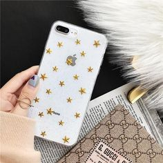 Glitter Stars Transparent iPhone Case - Iphone 7 Plus Glitter Case - Ideas of Iphone 7 Plus Glitter Case - -