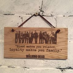 Walking Dead.  Shabby chic wooden plaque/sign from the hit cult TV series. Great gift for family friends and fans. by EngraviaDigital on Etsy
