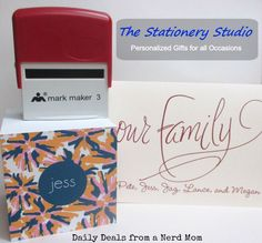 The Stationery Studio $50 Gift Card Giveaway {US, ends 8/18} | Dorky's Deals