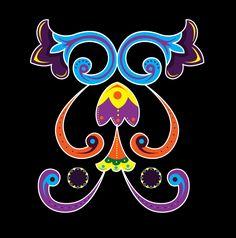 Ilustracion inspirada en el simbolo patrio de Costa Rica, la Carreta Tipica