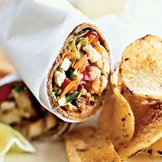 Yum! Spiced Fish Wraps with Chile-Lime Slaw will allow your guests to mingle while they snack.