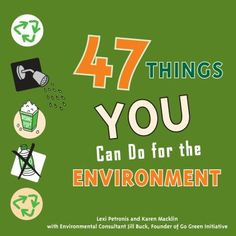 """Describes forty-seven big and small things teens can do to make a positive impact on the environment with suggestions such as eating less meat, shopping vintage, creating an environmental task force at school, and more."""