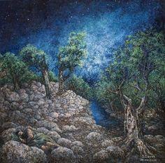 "Saatchi Online Artist: Sergey Levin; Oil, 2012, Painting ""Jacob's Dream"""