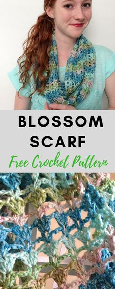 Crochet For Beginners Winter Blossom Infinity Scarf—Free Crochet Pattern! Beginner crochet pattern, and perfect for Fall! Crochet Motifs, Crochet Poncho, Crochet Scarves, Crochet Stitches, Irish Crochet, Crochet Infinity Scarf Free Pattern, Crochet Infinity Scarves, Crochet Patterns For Scarves, Crochet Beanie