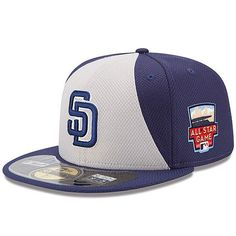 1278c47b9 San Diego Padres New Era Authentic Collection Diamond Era On-Field Fitted  Hat with 2014 All-Star Game Patch - Gray Navy