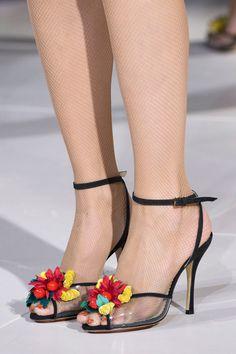 Charlotte Olympia at London Fashion Week Spring 2017 - Details Runway Photos Half Shoes, Best Looking Shoes, Runway Shoes, Heels Outfits, Dream Shoes, Fashion Heels, Spring Shoes, Charlotte Olympia, Womens High Heels