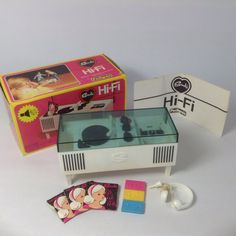 Vintage 1970 s Pedigree Sindy Doll Furniture - Hi-Fi Stereo Unit BOXED