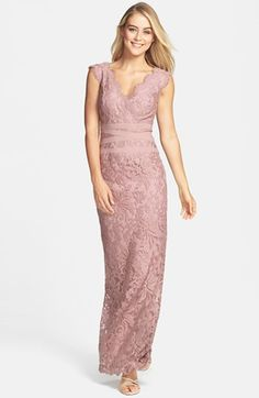 Tadashi Shoji Embroidered Lace Column Gown available at #Nordstrom