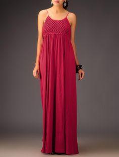 https://www.jaypore.com/red-zylphia-macrame-long-dress-cotton-crape-p55909