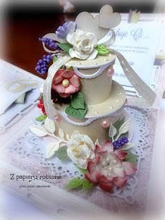 tort slubny, papierowy