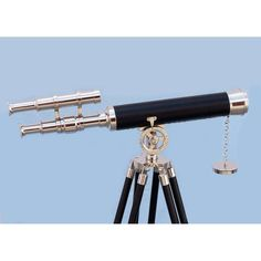 Floor Standing Chrome Leather Griffith Astro Telescope 45 inch
