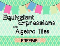 Math Resources, Math Activities, Equivalent Expressions, Common Core Math, Arithmetic, Task Cards, Algebra, Giveaways, Concrete