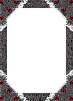 Black Transparent Frame with Red Hearts Halloween Frames, Christmas Frames, Round Gift Boxes, Baby Photo Frames, E Frame, Party Frame, Certificate Design Template, Transparent Flowers, Short Stories For Kids
