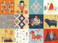 Miriam Bos for Birch Organic Fabrics, Wildland, Wildland Patch  Fabric is sold…