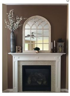 With A Striking Design Reminiscent Of Arched Cathedral Windows, This  Distressed Arch Mirror Is Sure To Leave Guests Reflecting On Your Good  Taste.