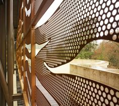 What do you think of designing and decorating your home in a new way using perforated metal sheets? Perforated metal sheets are also referred to as Pergola Ideas For Patio, Modern Pergola, Deck With Pergola, Pergola Swing, Covered Pergola, Metal Facade, Metal Stairs, Metal Screen, Perforated Metal Panel