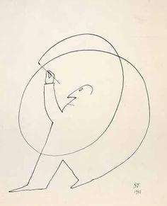 avesilves:  Saul Steinberg,Untitled, 1948