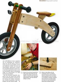 #2978 Balance Bike Plans - Children's Outdoor Plans Wooden Toy Plans