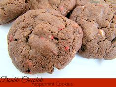 Double Chocolate Peppermint Cookies made with Andes Peppermint Baking Chips
