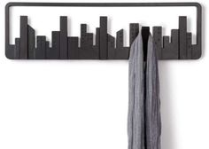 Cityscape Clothing Racks - Hang Your Jacket off a Skyscraper with the Skyline Coat Hook (GALLERY)