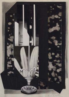Collage by Libor Fára (1925-1988, Czech), 1981, Black Sunday 12. #CzechArt