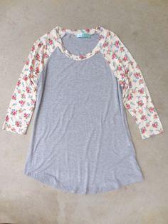 Floral Creek Raglan Tee | love this top! So cute but still casual!