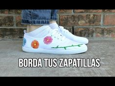 Embroidery Sneakers, Diy, Shoes, Youtube, Ideas, Fashion, Slippers, Clothing, Espadrilles