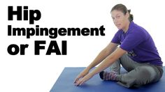 Hip impingement syndrome, or femoroacetabular impingement (FAI) is when the hip joint rubs abnormally causing damage to the hip joint. This can affect your hip range of motion, and can also cause hip pain and hip weakness. See more hip exercises: No Equipment Ab Workout, Ab Core Workout, Hip Workout, Hip Impingement Exercises, Hip Arthritis, Quick Abs, Doctor Of Physical Therapy, Dynamic Stretching, Hip Stretches
