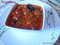 Tomato chutney is a common dish in Indian households. This simple vegetarian recipe is easy and can be made instantly. http://yummyindiankitchen.com
