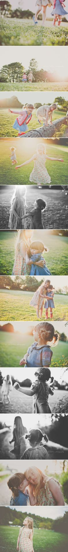 Oh my goodness, I love the blog post that goes with these photos. The woman is writing to her daughters, saying what their favorite things/hobbies are at this age. Such a cool idea.