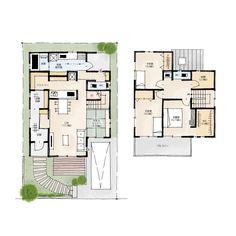 犬と暮らす家の間取り | 37坪・3LDK・2階建