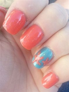 summery jewel tone shades and a starfish