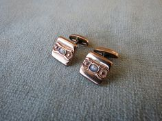 Victorian Cuff Links / Rose Gold and Opal / Men's or by JWVintage, $65.00