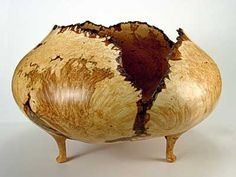 Tri-legged Big Leaf Maple Burl Bowl - Chris Ramsey