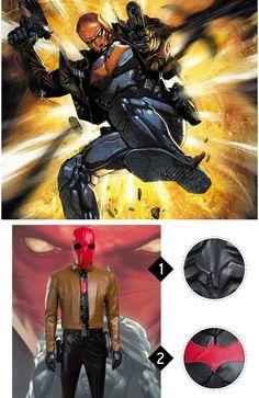 High Quality Batman Jason Todd Red Cosplay Costumes Batman Comic Art, Gotham Batman, Batman Comics, Batman Robin, Batman Cosplay Costume, Anime Costumes, Movie Costumes, Cosplay Costumes, Nightwing