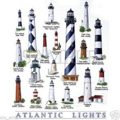 TSHIRT Atlantic LightHouse Collection T by AlwaysInStitchesCo