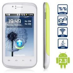 F1658 Unlocked Android 2.3 Smartphone SC6820 1.0GHz WiFi 3.5 inch Capacitive Screen (Green) - its cheapest smartphone on AHD!