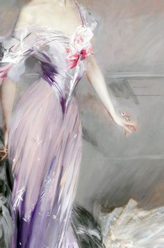 Portrait of Mrs. Howard-Johnston, Detail. by Giovanni Boldini (1842-1931) Dated: 1906