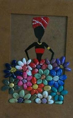 Flowers Handpainted Stones Pebble Art Stone Art by StefArtStone – BuzzTMZ Pebble Painting, Pebble Art, Stone Painting, Diy Painting, Durga Painting, Interior Painting, House Painting, Stone Crafts, Rock Crafts