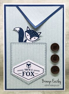 The Stamp Review Crew – Truly Tailored Foxy Friends Punch, Pocket Full Of Sunshine, Kids Cards, Men's Cards, Pocket Cards, Animal Cards, Card Sketches, Masculine Cards, Stampin Up Cards