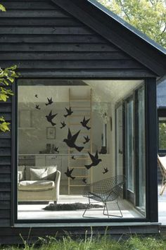 Stickaroo - vintage swallows - this is awesome! we always have birds fly into the windows:(