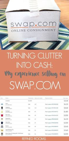 clutter into cash - swap dot com Declutter Your Home, Organizing Your Home, Organizing Tips, Organising Hacks, Decluttering Ideas, As You Like, Told You So, Mug Storage, Sell Your Stuff