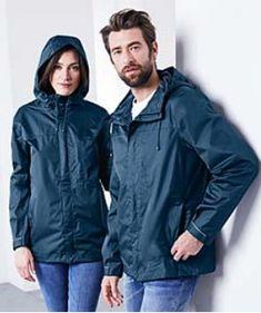Erhältlich im online shop von tchibo.de mit 8% Cashback für KGS Partner Denim Button Up, Button Up Shirts, Im Online, Unisex, Rain Jacket, Windbreaker, Raincoat, Shopping, High