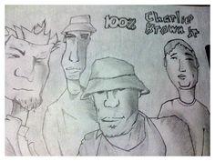 Desenho capa CD charlie brown Jr