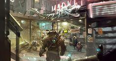 Pike Place Market Shadowrun Exteriors