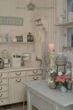 White Kitchen Vintage fresh cottage style | cottage style decor, vintage ideas and