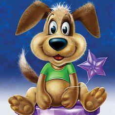 Magic dog...illustration by Paul Morton