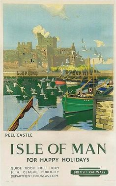 ISLANDS - Isle of Man - Peel Castle - British railways - 1903 - (Charles Pears)